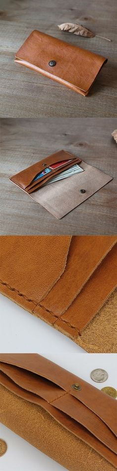 DIY Vintage PU Leather Tobacco Pouch Card Storage Purse Wallet Snap-Fastener