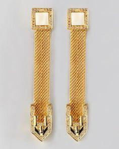 Rachel Zoe snake chain #earrings #jewelry