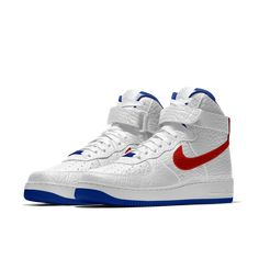 Nike Air Force 1 High Premium iD (Philadelphia 76ers) Men's Shoe Size 14  (White)