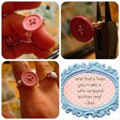 Wire Wrapped Button Ring Tutorial 6..free tutorial and pictures!...this is a lovely idea for using some of my really old cool buttons!