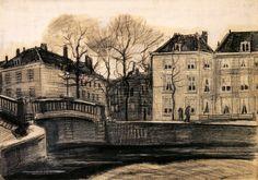 Vincent Van Gogh I Bridge and Houses on the Corner of Herengracht-Prinsessegracht I 1882