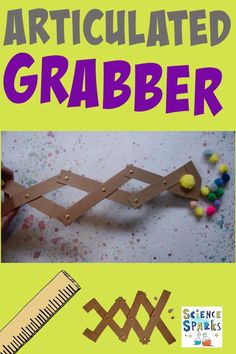 Build and design your own articulated grabber as a fun and simple cardboard STEM Challenge! A great science project too! Stem Activities, Educational Activities, Stem Steam, Stem Science, Play Based Learning, Stem Challenges, Science Projects, Girl Scouts, Science And Technology