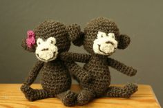 Monkeys - free crochet pattern by blogger Bethsco