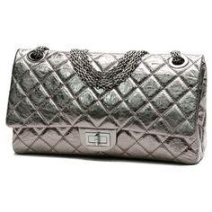 bc3ffc7d83e6 Pre-Owned Chanel Metallic Silver Calfskin Reissue 228 Flap Bag