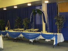 blue and silver Dinner Party Party Ideas. Pastor AnniversaryWedding Anniversary20th AnniversaryAnniversary DecorationsCenter IdeasChurch ... & Pastor Anniversary Decorations Ideas Images | decorations for ...