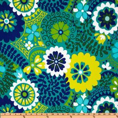 Richloom Solarium Outdoor Luxury Floral Azure-$8.98/yd  For pillows or curtains in living room?