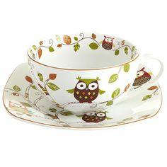 Owl Mug & Plate Set