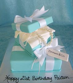 Tiffany Box Cake. I want one! I just need this for my birthmonth