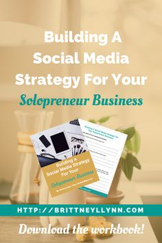 Building A Social Media Strategy For Your Solopreneur Business   Struggling with keeping up with social media for your solopreneur business? I've been there. But not all hope is lost! Click to learn how to build a social media strategy for your solopreneur business and download the free cheatsheet!