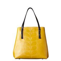 Orla Kiely | UK | bags | Mainline bags | Embossed Stem Willow Bag (15ABEMS067) | mustard