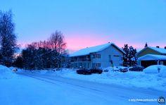 Séjour linguistique en Laponie avec le CEI  #Laponie #Lapland #CEI #voyage #travel #sejourlinguistique #winter #nature #snow #sunset #sky #pink #blue