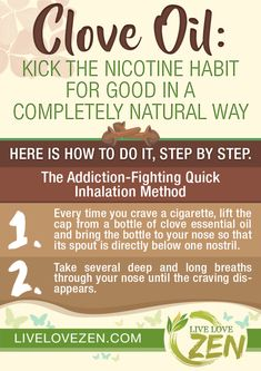 14 Astounding Ways That Clove Essential Oil Can Keep You Healthy - Live Love Zen Clove Essential Oil, Essential Oils Guide, Essential Oil Diffuser Blends, Essential Oil Uses, Doterra Essential Oils, Young Living Essential Oils, Quit Smoking Tips, Giving Up Smoking, Quit Smoking Essential Oils