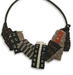 Sandy Swirnoff fiber art jewelry | Limited Edition