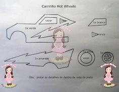 Molde carrinho Hot Wheels.