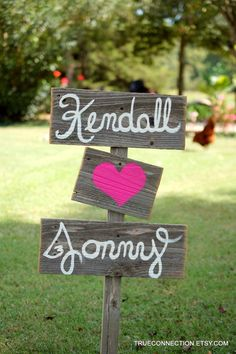 Wood Wedding Signs - DIY Wedding Signage, Rustic Weddings wooden decor ideas, Hand Painted Reclaimed Wood#valentines day