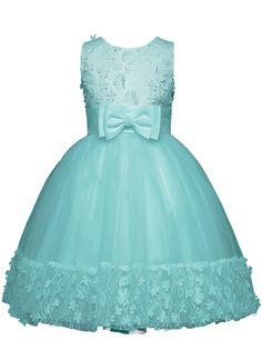 21KIDS Girls Fluffy Tulle Sleeveless Holiday Wedding Princess Dress Ornament With Flowers And Crossed Back Bow For 4-11T. Main material:cotton.Soft,breathable and sweat-absorbent,more comfortable for chlidren. Features:A-line,3D flowers,lace,bow and veil.3D flowers in the front and hem,as well as the veil,make this dress more dreamlike.Delicate lace,highlight its princess style and add more elegance.Two big bow on the wasit and back respectively,make girls more cute. The length of this…