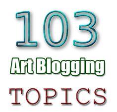 artist blogging topics write