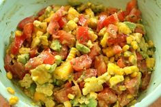 Fresh sweet corn, avocado, and mango salad. Made this tonight...it was yummy!
