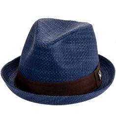 Peter Grimm Mens Navy Blue Depp Fedora Hat
