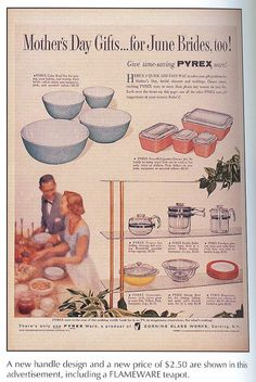 love the old pyrex ads
