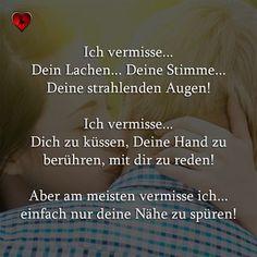 Ich vermisse | Herzenliebe.com