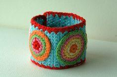 Crochet Cuff Bracelet no.4. $24.00, via Etsy.