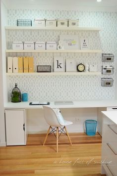 DIY industrial wire mail baskets + home office center. Mostly IKEA products