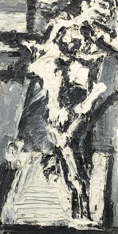 Frank Auerbach, J Y M in the Studio VII (1965) on ArtStack #frank-auerbach #art