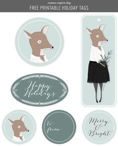 Free Printable: holiday gift tags