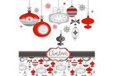 Christmas Clip Art, ornaments, balls by GraphicMarket on Creative Market
