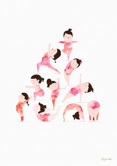Yoga by The Lily X - gorgeous animated illustration. http://obus.com.au/