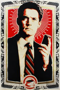 Stenciled Twin Peaks Agent Cooper Print <3 | by epyon5 on Etsy #twin_peaks #agent_cooper