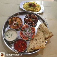 """Via @kolhapuritadaka -  This is shared via Nikhil Kulkarni Via """" Amhi Kolhapuri"""" Facebook page and I seriously couldn't help posting about it here .  This is a Mutton thali pic from Hotel Kha ( हटल ख) near Azad Chowk  Near Uma Talkies . The thali looks really presentable and yummy  sure what they serve must be equally amazing .  #food #foodie  #foodiesofinstagram  #foodiesofkolhapur  #foodblog  #foodblogger  #foodpics  #foodstagram #foodporn  #foodspotting #foodgasm #foodgram #kolhapur…"""