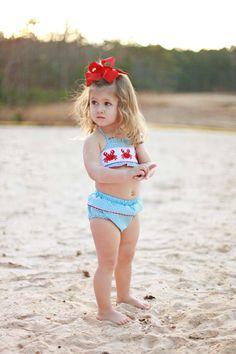 Southern Tots Crab Bikini