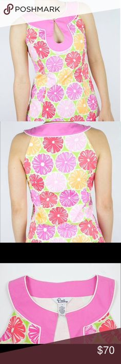 Lilly Pulitzer Citrus Fruit Top This is a NWOT top from LP. The print is called Juice Stand. I love the cut of this and the print. Just looking to downsize since I don't wear it often. Please note there are very tiny blemishes on the inside of the shirt but nothing that compromises the shirt what so ever. Beyoncé made some lemonade and so can you as the  future owner of  this lovely top! Lilly Pulitzer Tops