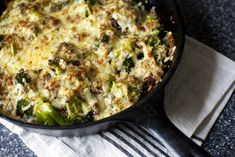 Broccoli, cheddar and wild rice casserole by Smitten Kitchen.