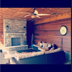 Outdoor patio! Perfect for a cabin