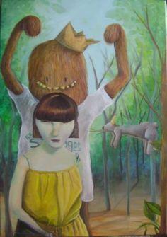 """Saatchi Art Artist Mariano Sánchez; Painting, """"""""El bosque"""""""" #art"""