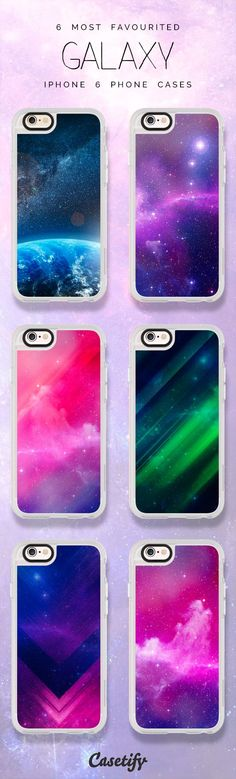 Top 6 Galaxy iPhone 6 protective phone case designs | Click through to see more iPhone phone case idea >>> https://www.casetify.com/collections/iphone-6s-galaxy-cases?device=iphone-6s/?device=iphone-6s | @casetify