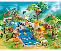 PLAYMOBIL 4095 HUGE ANIMAL PARADISE 200 PIEC. EXCLUSIVE