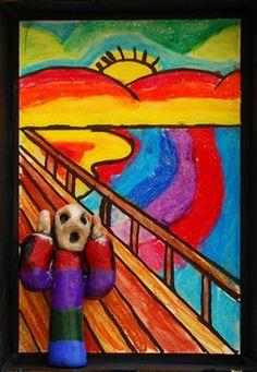 """Edvard Munch ""the Scream""""  Mixed media - love"