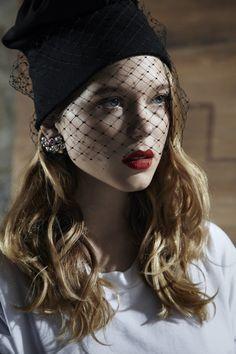 Léa Seydoux, wearing Jil Sander SS2012 hat