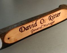 rustic name plate - Google Search