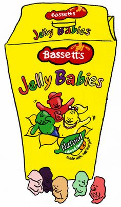 https://flic.kr/p/56HC2x | Jelly Babies | in my mind, gummies should only come in bear or worm form. These are not as chewy, super sweet, and are coated with a light dusting of some powder.  There are currently several companies that make jelly babies, most predominantly Trebor Bassett and also Rowntree, now owned by Nestlé.  Jelly Babies were launched by Bassett's in 1919 in Sheffield as Peace Babies to mark the end of World War I. Production was suspended during World War II due to…