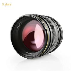 SainSonic Kamlan 50mm F1.1 APS-C Large Aperture Manual Focus Lens Standard Prime Lens for Sony E-Mount Mirrorless Camera