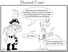 DT- A pirates life by caycowa on DeviantArt Harry Potter Comics, Harry Potter Jokes, No Muggles, Draco Malfoy Aesthetic, Pirate Life, Pirates, Anime Art, Tower, Magic