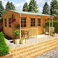BillyOh Frontier Portland Log Cabin 12 x 13 at Garden Buildings Direct