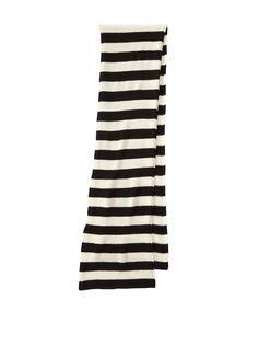 Portolano Women's Cashmere Striped Scarf