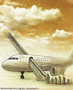 Air transport in Iran – Caricature by Mohamad Amin Aghai