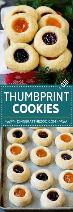 These thumbprint cookies are soft vanilla cookies filled with fruit jam and baked until golden brown. An easy and classic cookie. Nutella Cookies, Vanilla Cookies, Yummy Cookies, Chocolate Chip Cookies, Sugar Cookies, Cookies Et Biscuits, Eggnog Cookies, Delicious Cookie Recipes, Best Cookie Recipes